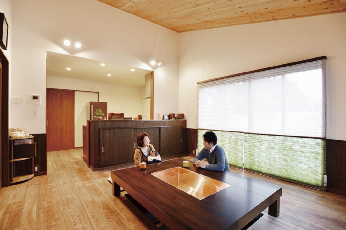 HIrayaStyle 平屋スタイルのダイニングルーム寛ぎ施工事例画像