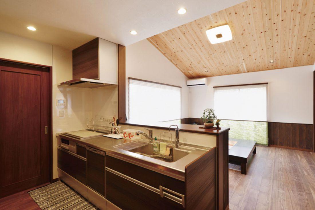 withmamaの家HirayaStyle平屋スタイルのキッチン画像